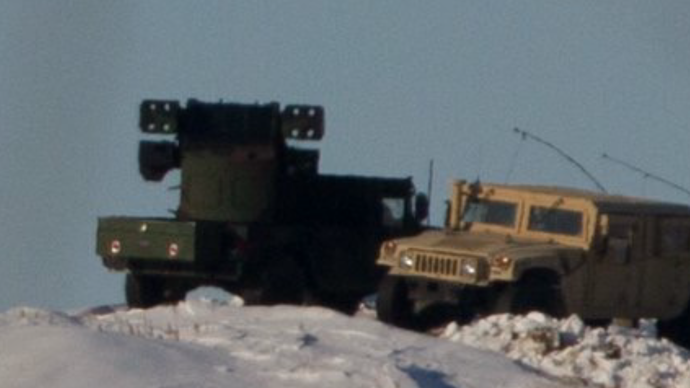 North Dakota National Guard vehicles at Standing Rock camps - photo provided by Myron Dewey